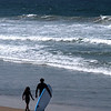Del Mar Beach, Father & Daughter Surfers