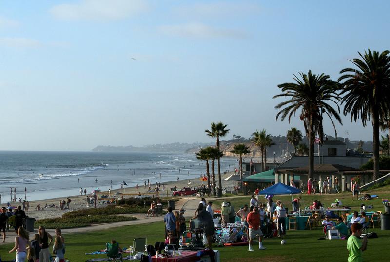Sunset picnic Del Mar