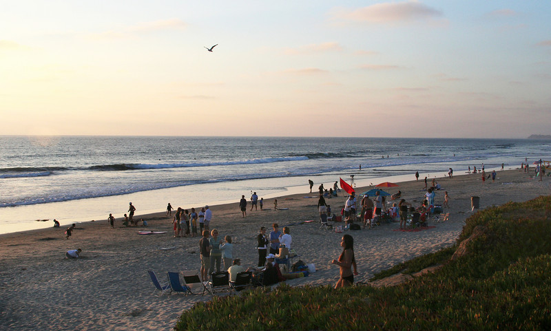 Del Mar beach at Dusk