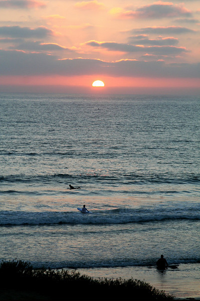 San Diego Beaches, Del Mar Beach Sunset