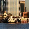 Downtown Views from Bay, Embarcadero, Ships, Santa Fe Terminal