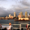 Downtown Views from Bay, Sunset View on San Diego from Hornblower Dinner Cruise