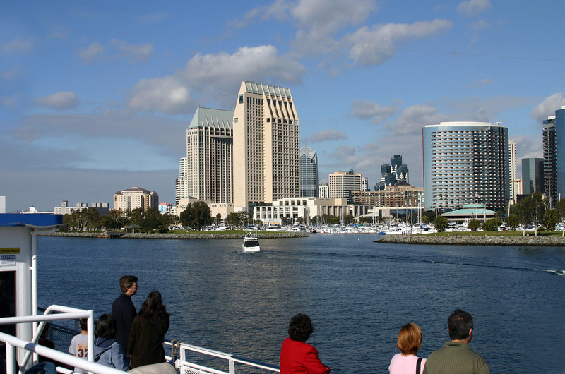 Downtown Views from Bay, View on San Diego from Hornblower Cruise Ship
