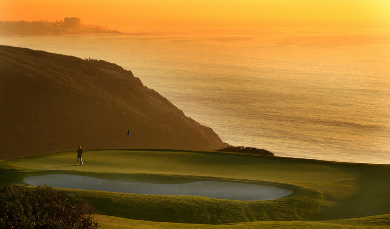 Torrey Pines Golf Course at Sunset