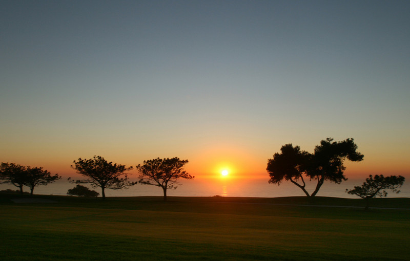 Sunset Over Torrey Pines South Course Green