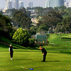 San Diego Municipal Golf Course with View on San Diego Skyline