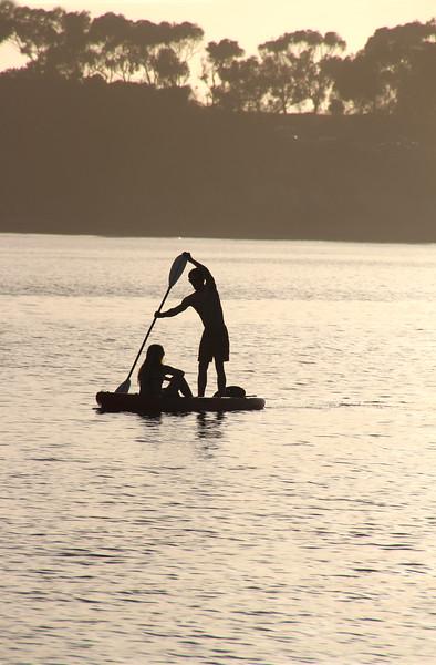 Grand Pacific Palisades Resort, Carlsbad California, SUP Silhouette at Carlsbad Lagoon