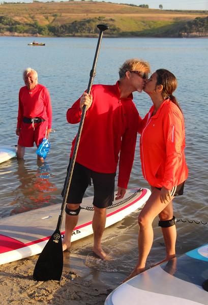 Grand Pacific Palisades Resort, Carlsbad California, Parents Celebrating SUP success