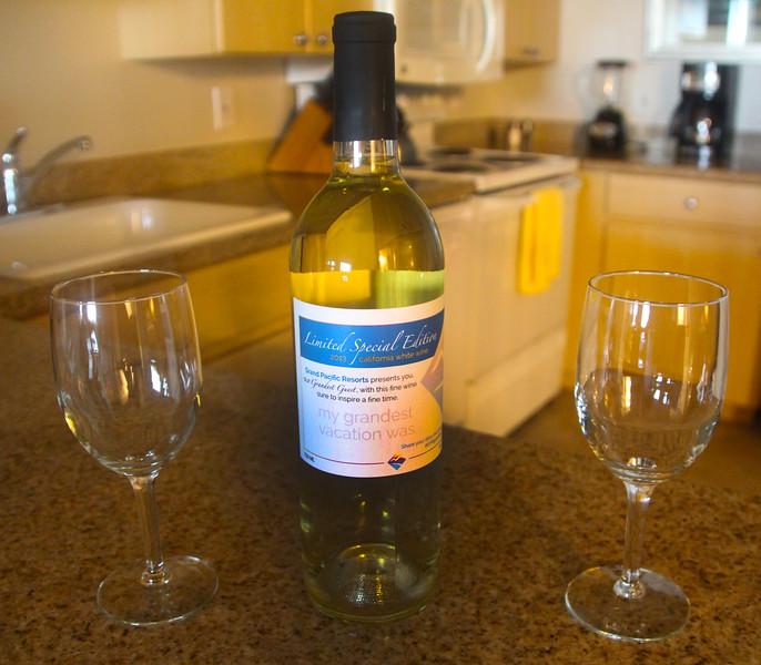 Grand Pacific Palisades Resort, Carlsbad California, Welcome Pinot Grigio Wine