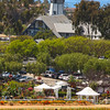 Grand Pacific Palisades Resort, Carlsbad California, View on Flower Fields with Windmill