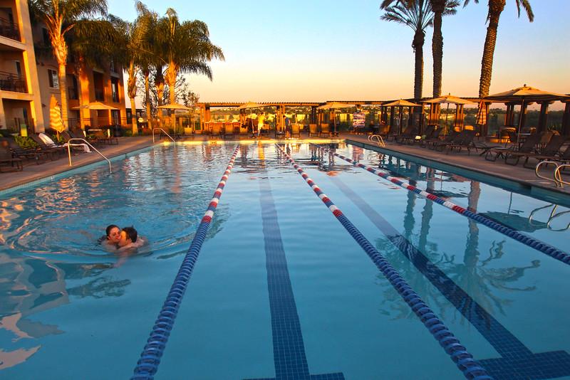 Grand Pacific Palisades Resort, Carlsbad California, Adult Pool at Sunset