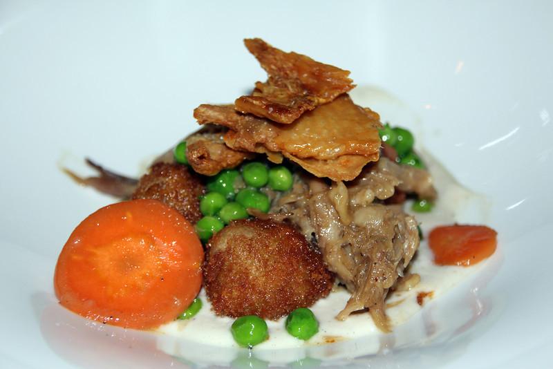 1540, L'Auberge Del Mar, chicken and crackling dumplings