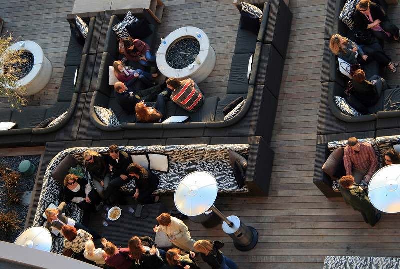 Hard Rock Patio Bar From Above