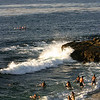 La Jolla, Scripps Cove with Bathers & Kayak