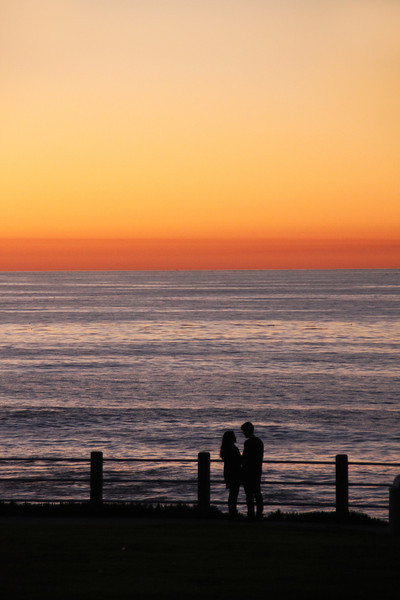 La Jolla, Romantic Couple at Sunset