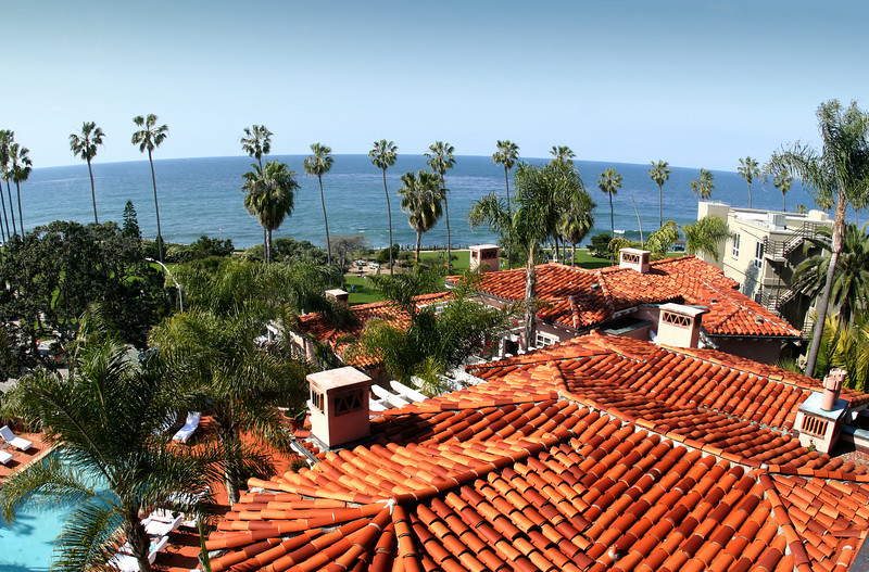 La Jolla, Red Roofs of La Valencia Hotel