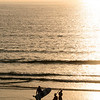 La Jolla Shores, Surfers at Sunset