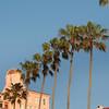 La Jolla La Valencia Hotel & Row of Palms