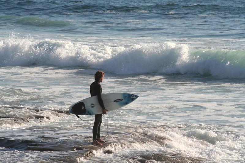 La Jolla, Surfer and wave