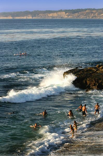 La Jolla, Swimmers at Scripps Cove