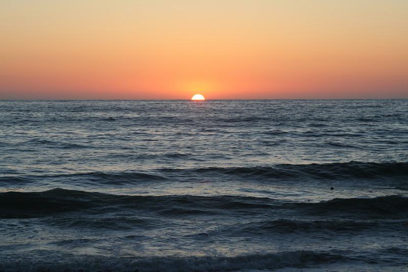 La Jolla, Sun Setting Over Horizon