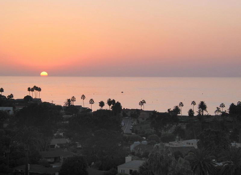 Sun Setting Over La Jolla