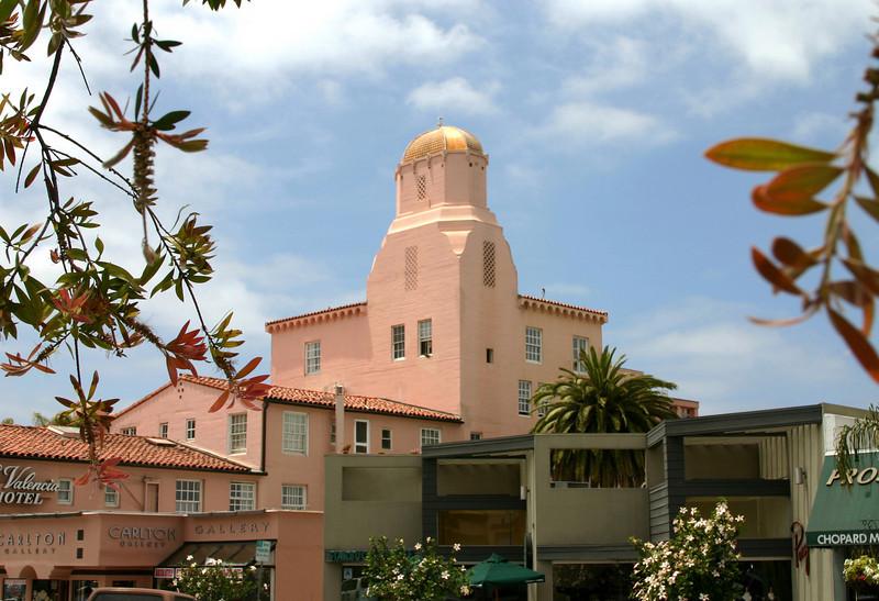 La Jolla, View on La Valencia Hotel