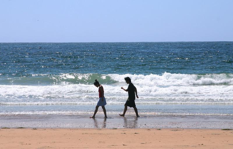 La Jolla, Beach Silhouette