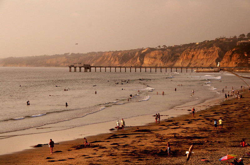 La Jolla Shores, Scripps Pier at Sunset