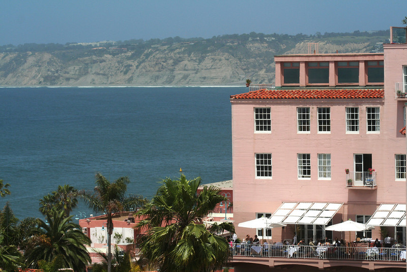 La Jolla, View on Terrace of La Valencia Hotel