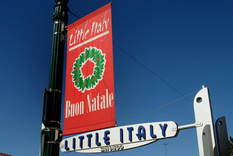 Little Italy San Diego, Buon Natale Sign ©Joanne DiBona