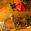 Little Italy, San Diego, Looking Down on Diners from Pensione Hotel Balcony, © Joanne DiBona