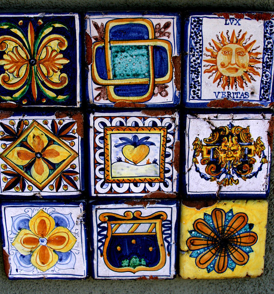 Little Italy San Diego, Tiles in Street ©Joanne DiBona
