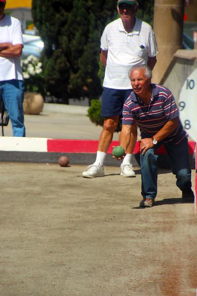 San Diego Little Italy, Bocci Ball Player Throw