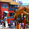 Little Italy San Diego, View on Colorful Cottages ©Joanne DiBona
