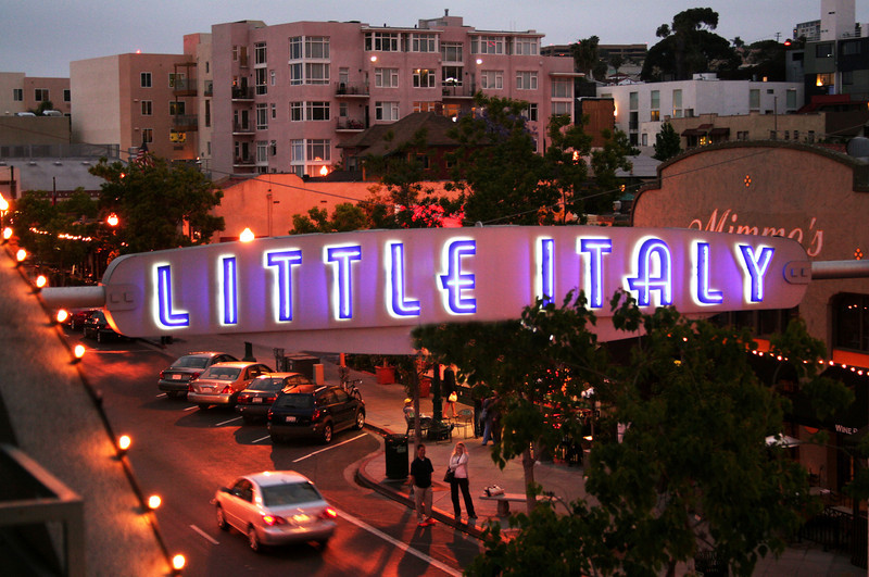 Little Italy San Diego, Sign Looking North ©Joanne DiBona