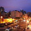 San Diego Little Italy, Evening View Towards Downtown