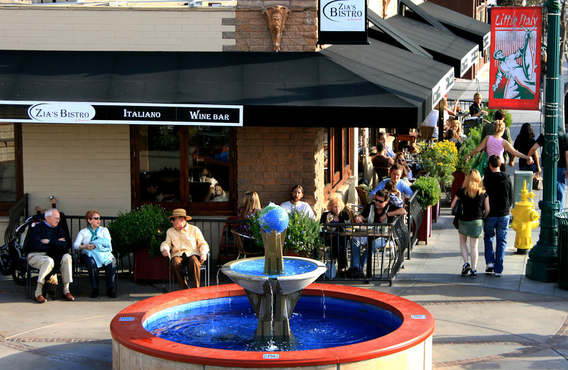 Little Italy San Diego, Basilone Square with Fountain © Joanne DiBona