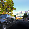 Little Italy, San Diego, Limo & Sign, © Joanne DiBona