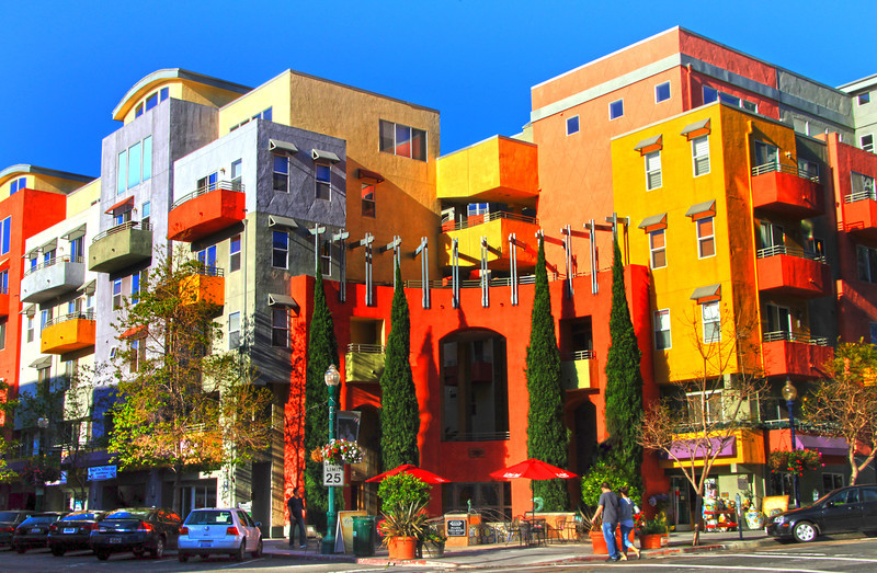 San Diego Little Italy, Colorful Condos