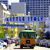 San Diego's Little Italy, Sign & Trolley