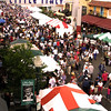 San Diego Little Italy, View on Festival Visitors