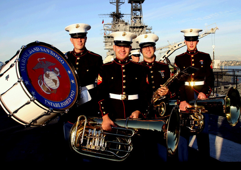 Midway Aircraft Carrier Museum, Marine Band on Deck