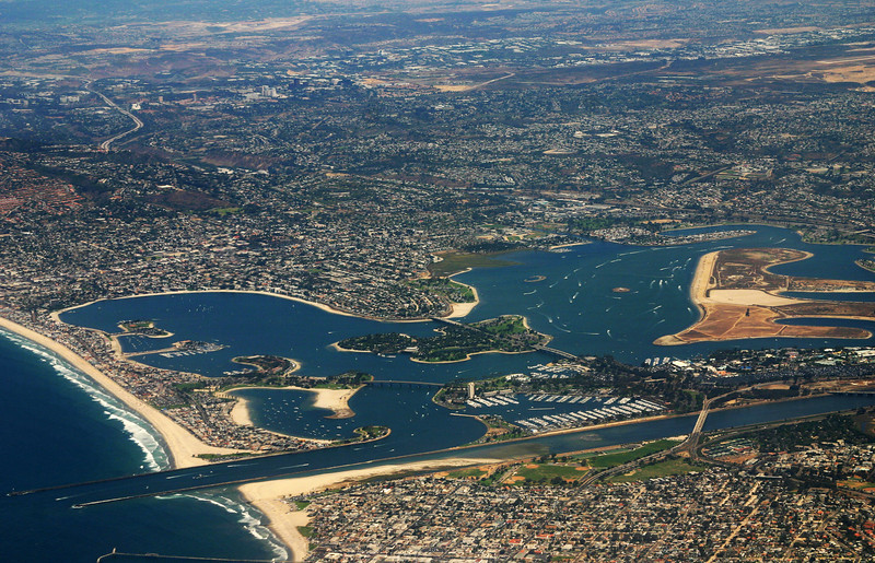 Mission Bay,  Aerial View