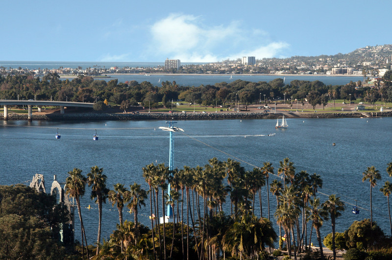 Mission Bay, View from SeaWorld Skytower