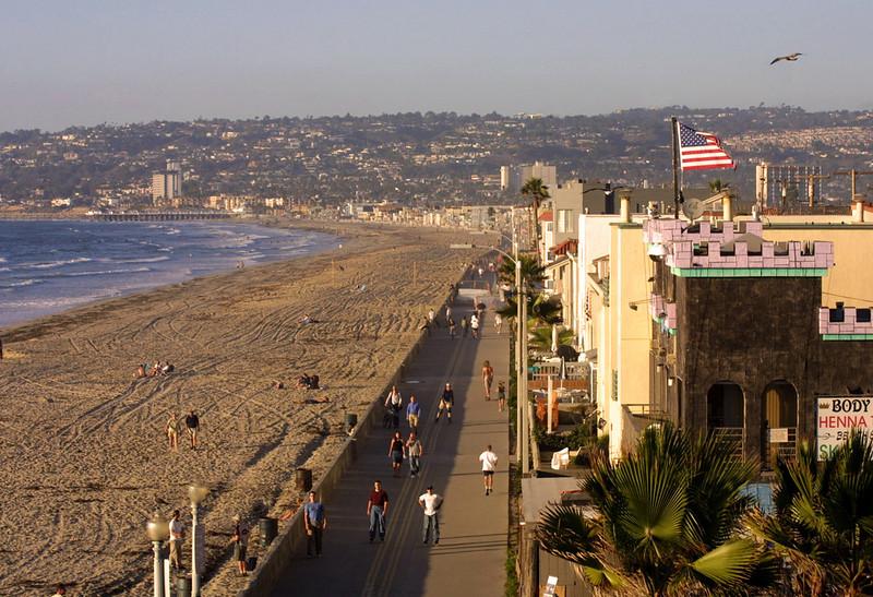 Mission Bay, Mission Beach boardwalk