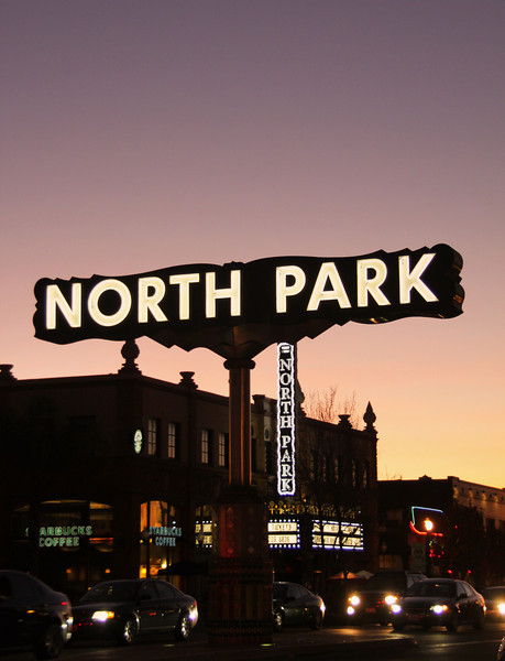 North Park, Sign & Theatre