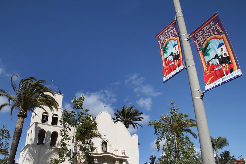 Old Town San Diego, Church & Flags