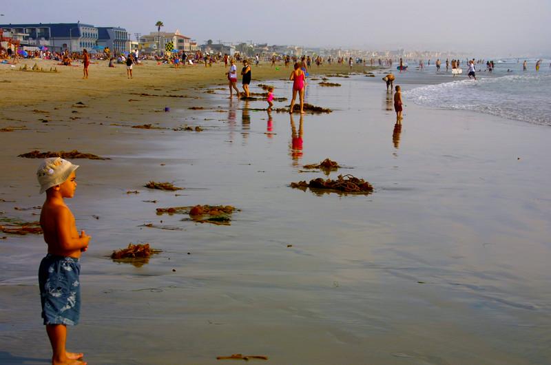 Pacific Beach San Diego, Boy on Beach