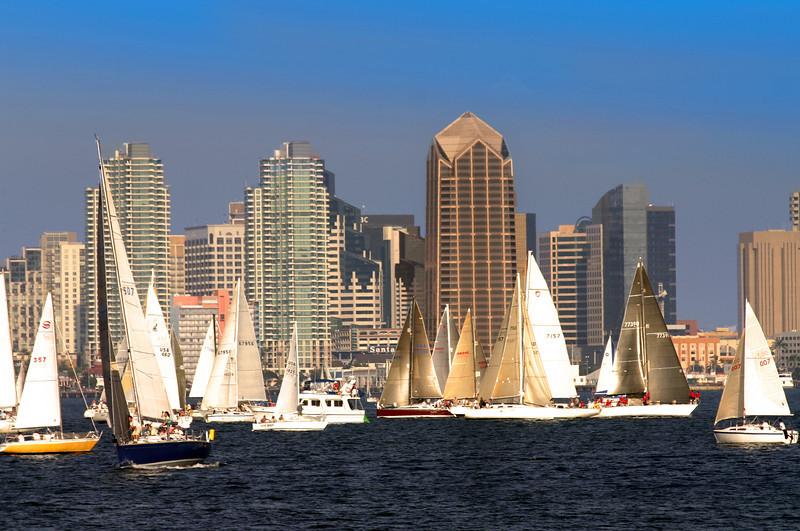 Sailing, Sailboat Regatta San Diego Bay